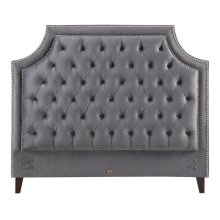 Jasmine Flannel (Grey) Queen Headboard 5/0