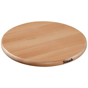 Staub Cast Iron Beechwood Trivet magnetic, Brown Product Image