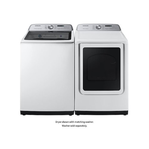 7.4 cu. ft. Gas Dryer with Steam Sanitize+ in White