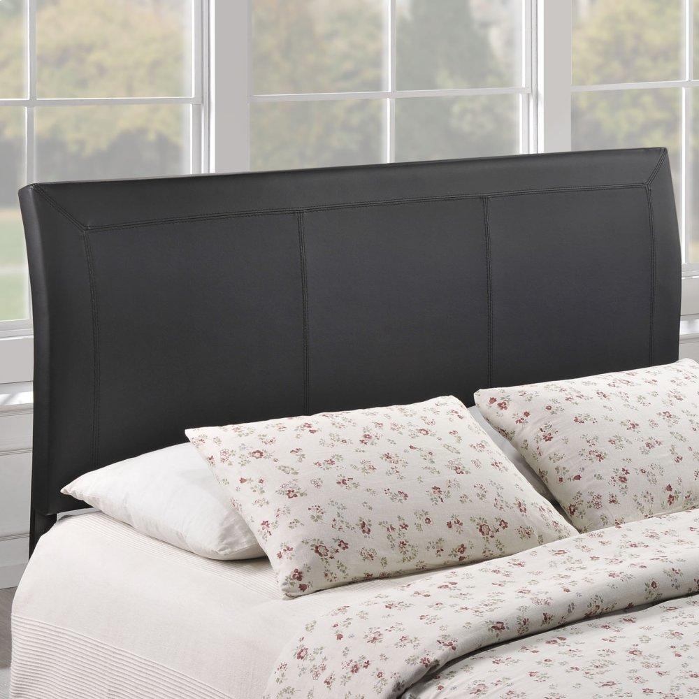 Isabella Queen Upholstered Vinyl Headboard in Black