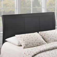 Isabella Queen Upholstered Vinyl Headboard in Black