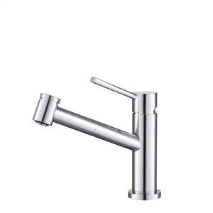 Stufurhome Metrolux Kitchen Faucet Set Chrome Single-Lever Mixer w/ Spray Head Product Image