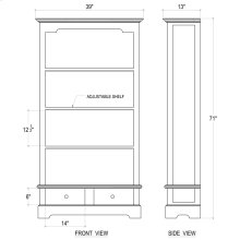 Manchester 2 Drawer Bookcase