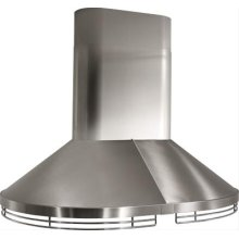 """48"""" Stainless Steel Island Hood with Internal and External Blower Options"""