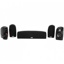 5-Piece Compact Home Theater System with TL2 Satellite and Center Channel Speakers in Black