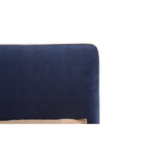 Emerald Home Twin 3/3 Upholstered Headboard Navy Blue #602