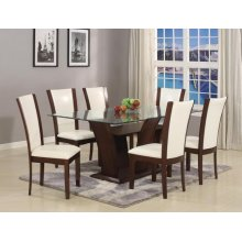 Camelia 7 Piece Dining Room Set Table & 6 Chairs