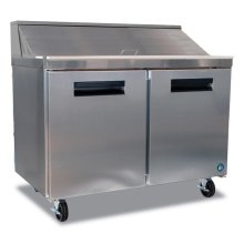 Refrigerator, Two Section Sandwich Top Prep Table