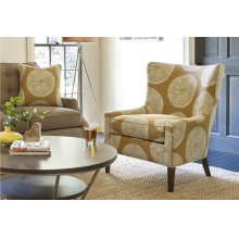 Curved Back Accent Chair