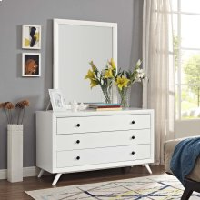 Tracy Dresser and Mirror in White