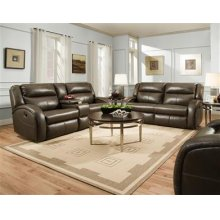 Leather Power Double Reclining Loveseat with Console *Special Pricing-Milano Leathers Only*