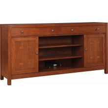 66 Wide, Oak TV Console