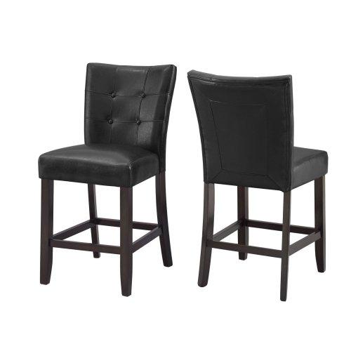 """Francis PU Counter Chair 19""""x25""""x40""""[1/2"""" Memory foam]"""
