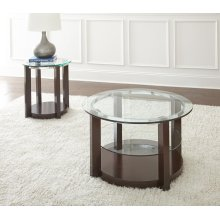 "Cerchio End Table, 23""x23""x24"""
