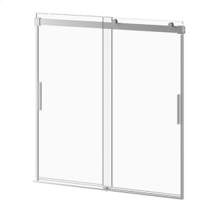 "60"" X 60"" Sliding Shower Door With Clear Glass - Chrome Product Image"