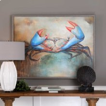 Sam The Crab Hand Painted Canvas