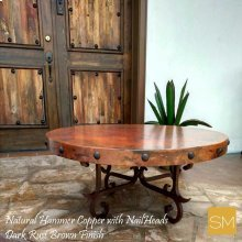 Hammer Copper Round Coffee Table