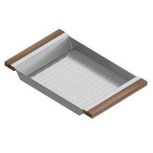 Colander 205231 - Stainless steel sink accessory , Walnut