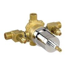 Rough Brass While Supplies Last - Pressure Balance Valve W/ Ceramic Disc Cartridge - Ips/sweat W/ Stops Gerber Pak