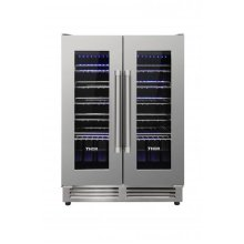 42 Bottle Dual Zone French Door Built-in Wine Cooler
