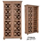 Bengal Manor Acacia Wood Fretwork 2 Door Tall Cabinet Product Image