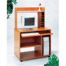 DESK/COMPUTER W/BOOKCSE/ KEYBORD/CASTR WOOD OAK/F