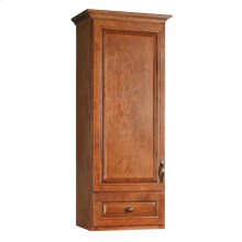 18-Inch by 14.5-Inch by 49-Inch Montclair Fully Assembled 1 Door/1 Drawer Linen Cabinet Top, Chestnut #540864