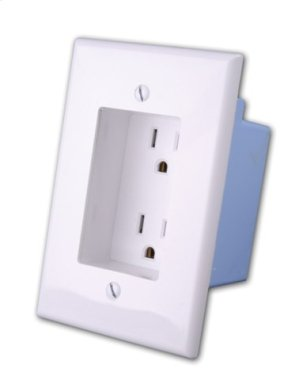 Rapid Link Power by Vanco - Recessed AC Duplex Outlet Plate Product Image