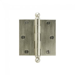 "Plain Bearing Extruded Hinge - 3.5"" x 3.5"" Silicon Bronze Brushed Product Image"
