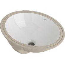 White Luxoval Oval Undercounter Bathroom Sink