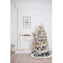 "Home for the Holiday Qy411 White 4'4"" X Round Tree Skirt"
