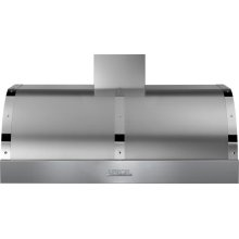 Hood DECO 48'' Stainless steel, Chrome 1 blower, electronic buttons control, baffle filters