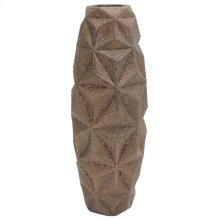 MODENA VASE- LARGE  Matte Gold Finish on Ceramic