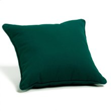 "Throw Pillow 15"" Square - Canvas Hunter Green"