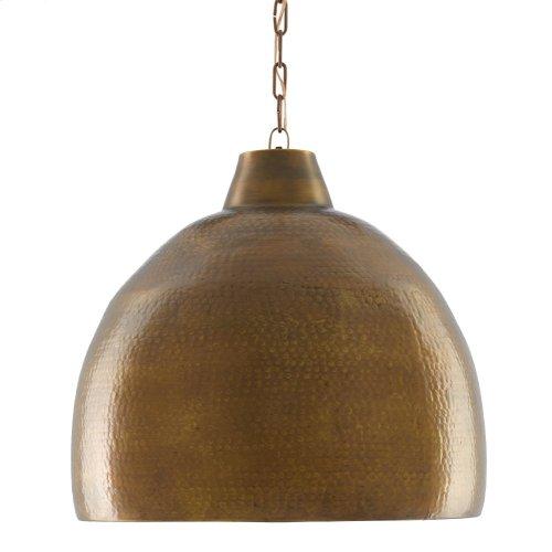 Earthshine Brass Large Pendant