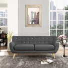 Remark Upholstered Fabric Sofa in Gray Product Image