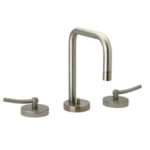 Metrohaus lavatory widespread faucet with swivel spout, lever handles and pop-up waste. Product Image
