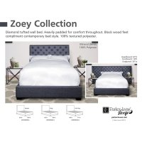 Zoey Storm Queen Bed 5/0 Product Image