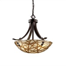 "18"" Pendant Bowl - Flat Bars w/ Finials"