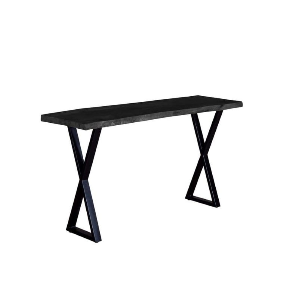 Crossover Black Console Tables with different bases, SB-AUT-28B