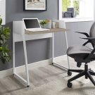 Relay Wood Writing Desk in White Natural Product Image