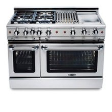 """48"""" six burner gas self-clean range w/ 12"""" Thermo-Griddle™ + convection oven - NG"""