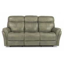 Zoey Leather Power Reclining Sofa