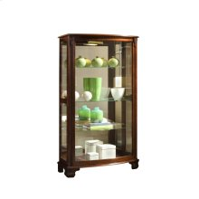 Gallery Style 3 Shelf Curio Cabinet in Maple Brown