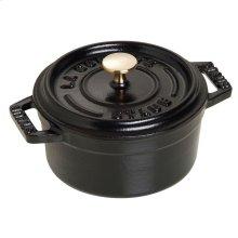 Staub Cast Iron 4-inch round Mini Cocotte, Black