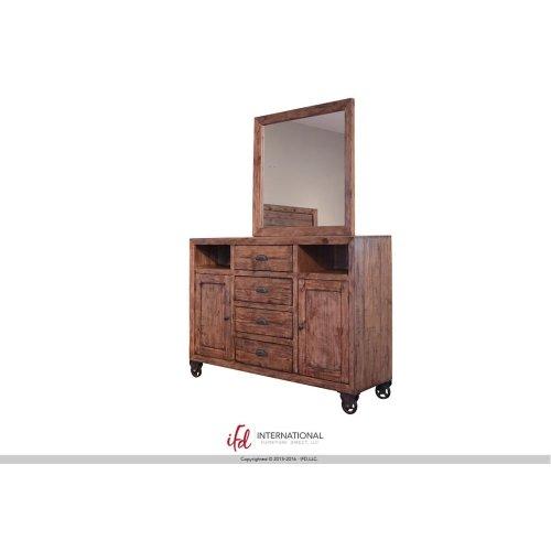 4 Drawer, 2 Doors, 2 Shelves Dresser