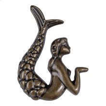 Mermaid Knob Left 2 1/2 Inch - Burnished Bronze
