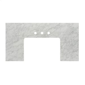 """3cm (1-1/4"""") 37-1/2x23"""" White Carrera (WC) Marble Farmhouse Top Product Image"""