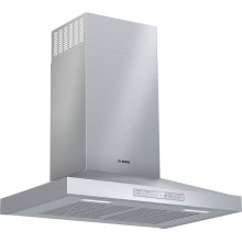 "300 Series 30"" Pyramid Canopy Chimney Hood, 600 CFM, HCP50652UC, Stainless Steel"
