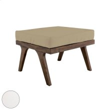 Teak Square Ottoman Cushion in White